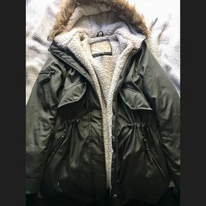 Army Green Hooded Winter Parka